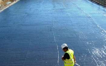Liquid waterproofing membrane / for floors / for foundations / bituminous
